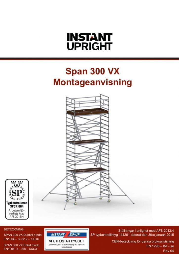 300vx Montageanvisning